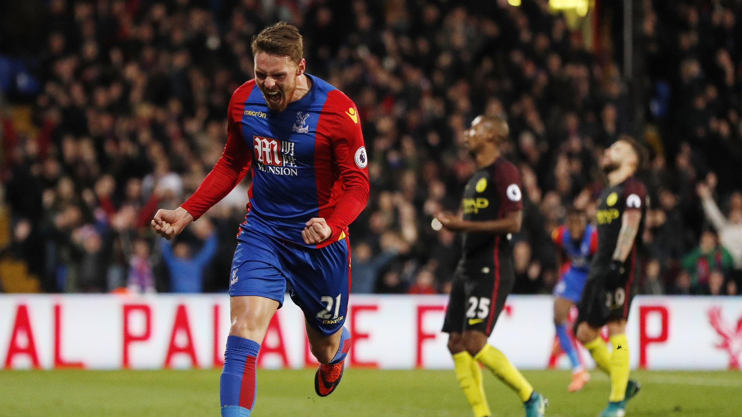 Crystal Palace's Connor Wickham celebrates scoring their first goal