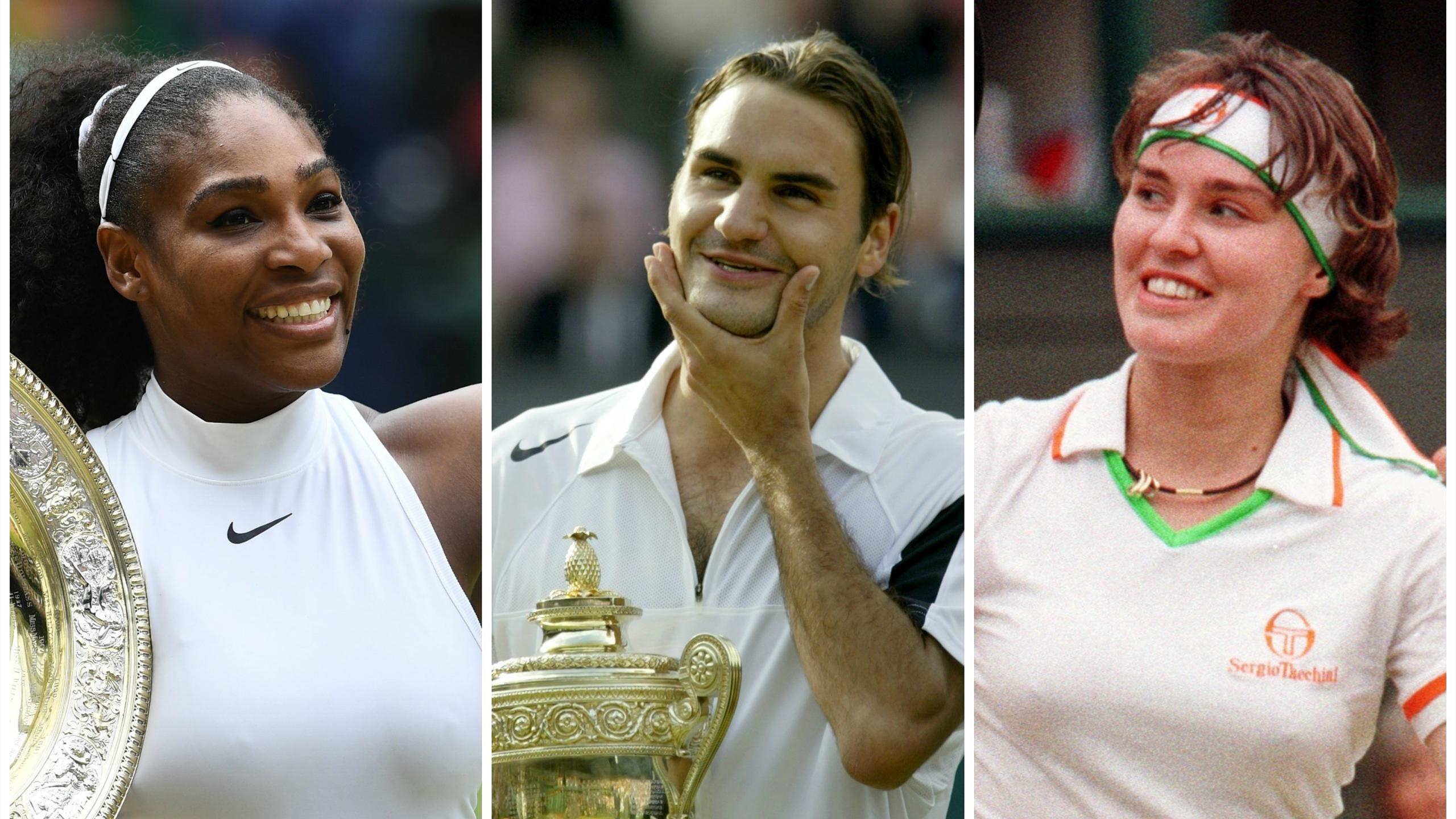 Serena Williams, Roger Federer and Martina Hingis