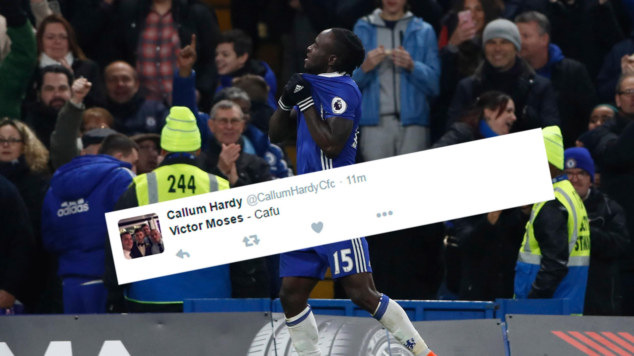 Chelsea's Victor Moses and Twitter reaction