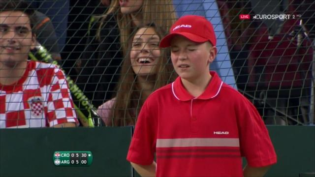 VIDEO: Ball boy gets hit by Cilic serve, courageously continues
