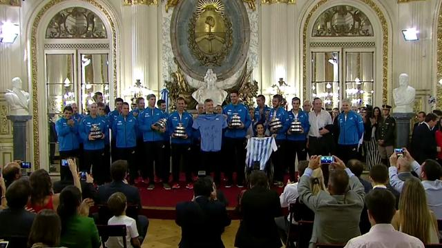 Davis Cup champions Argentina given hero's welcome