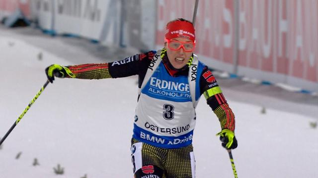 Laura Dahlmeier takes win in first individual event of biathlon World Cup