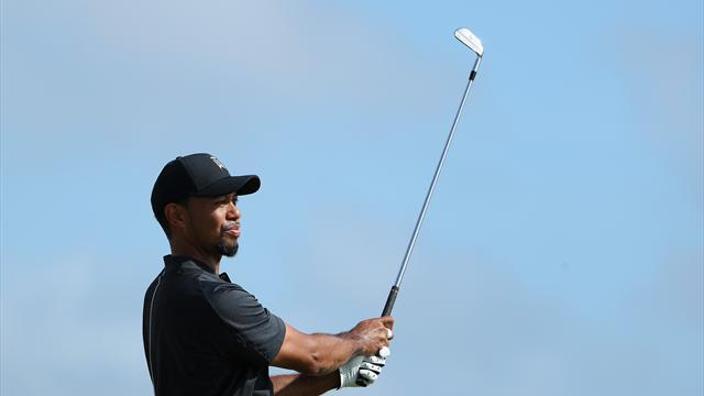 Tiger Woods hits one-over 73 on return to golf in Bahamas