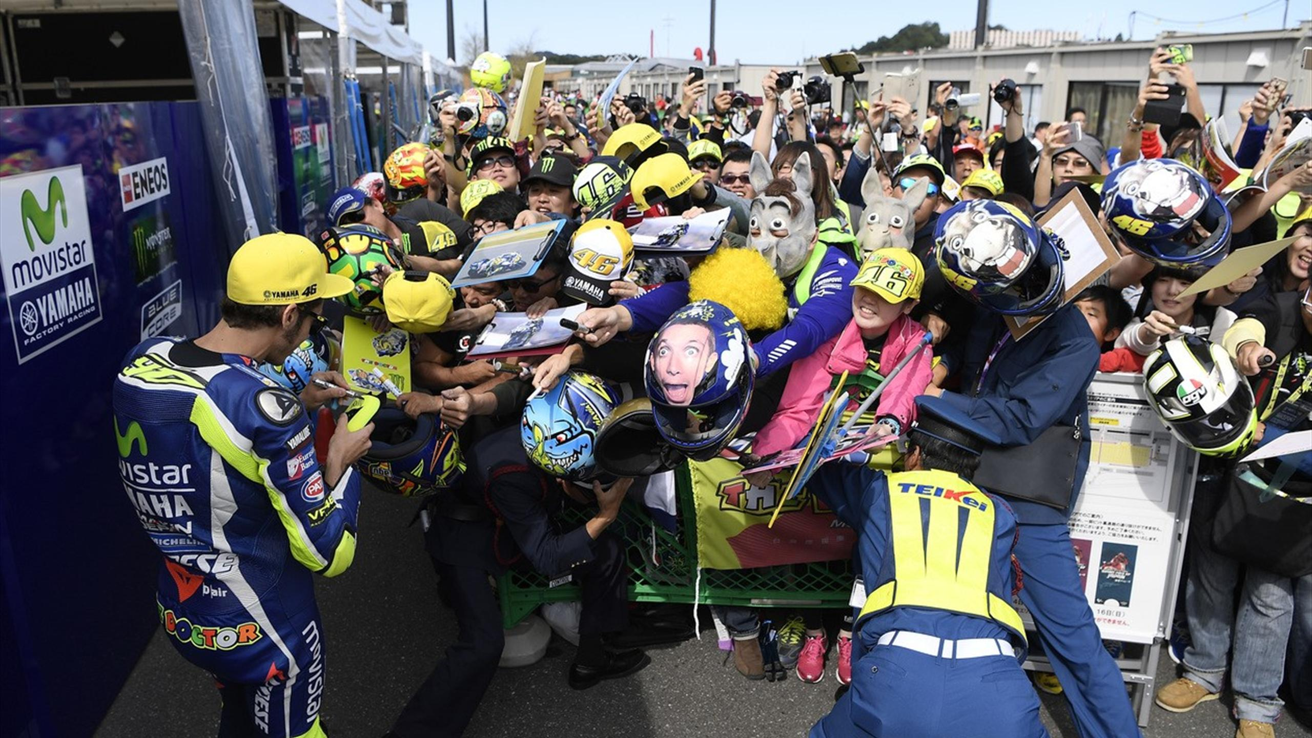 Valentino Rossi (Yamaha Factory) during Japan GP 2016
