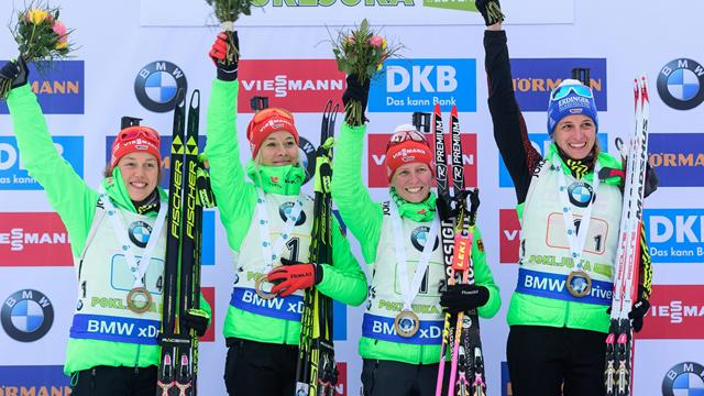 Germany battle back to take fourth season victory in Hochfilzen