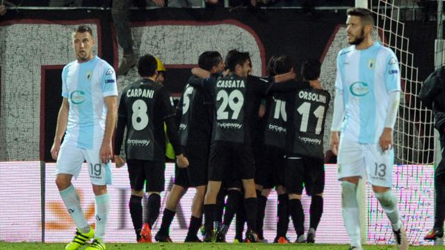 Ascoli-Virtus Entella 2-1: highlights di serie B