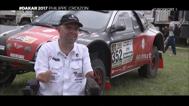 video quadri amput philippe croizon rel ve le d fi du dakar dakar video eurosport. Black Bedroom Furniture Sets. Home Design Ideas