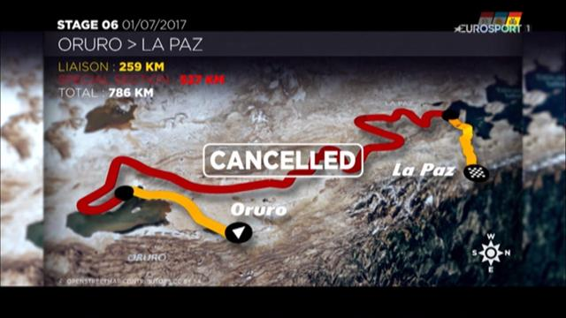 Dakar Rally: Stage 6 cancelled due to weather conditions