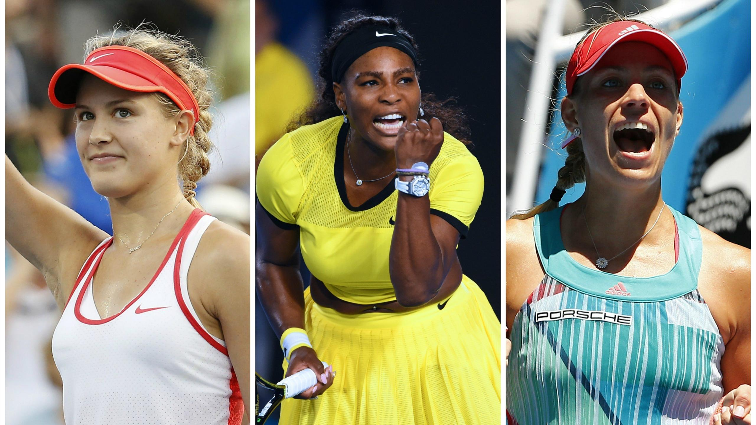 Eugenie Bouchard, Serena Williams and Angelique Kerber