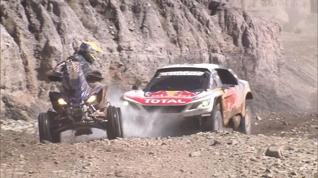 Loeb takes overall lead from team-mate Peterhansel after stage 8