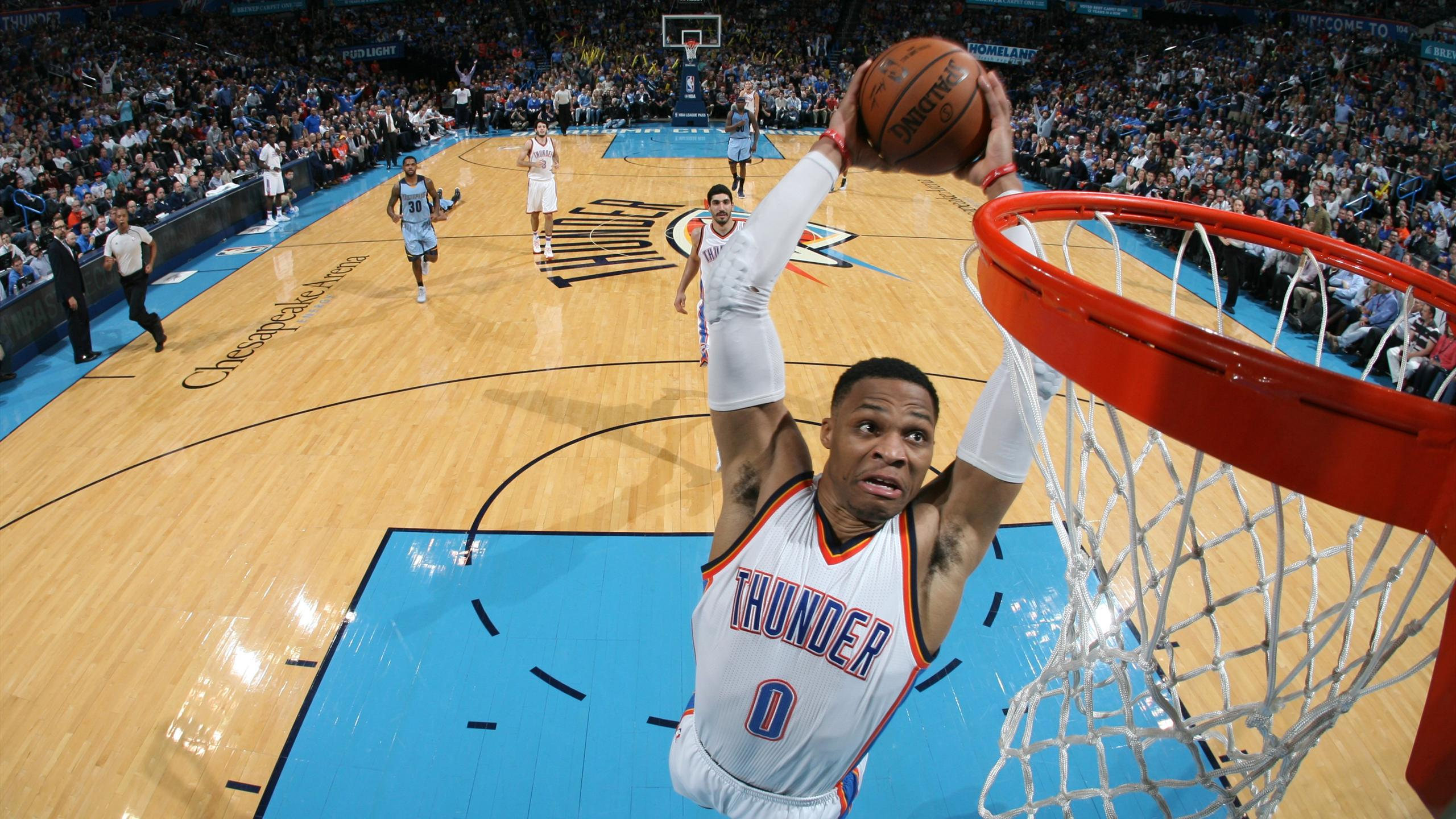 Russell Westbrook (Oklahoma City Thunder) face à Memphis