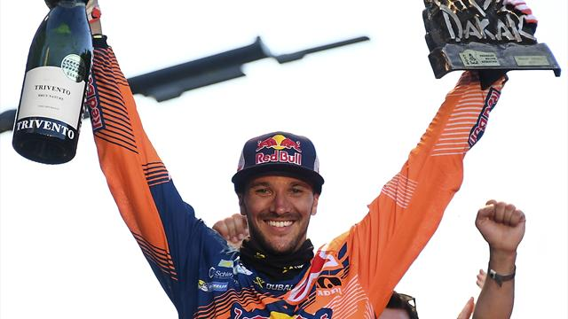 Biker Sunderland becomes Britain's first Dakar winner