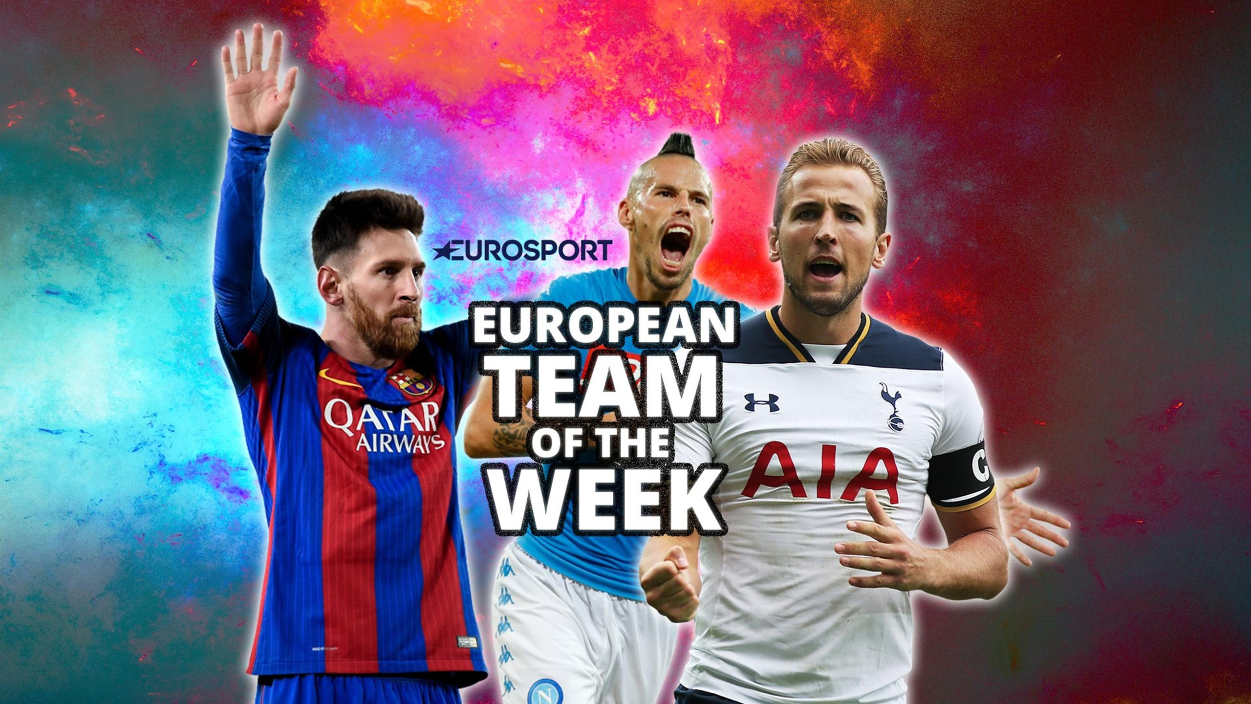 Magic Messi eclipsed by Spurs' hat-trick hero - European Team of the Week