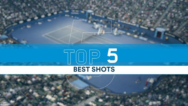 Top 5 shots of day six: Dimitrov, Monfils, Zverev