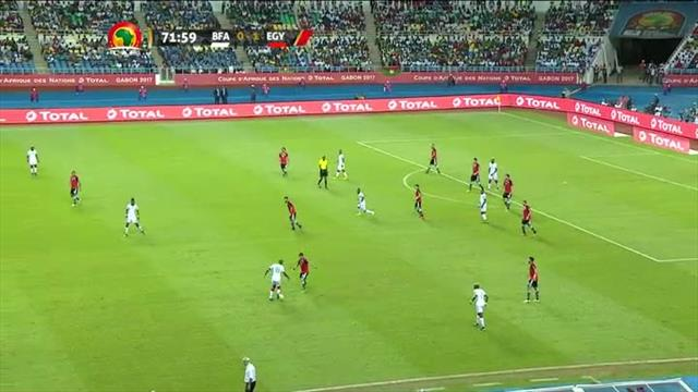 Fans go wild as Burkina Faso equalise against Egypt