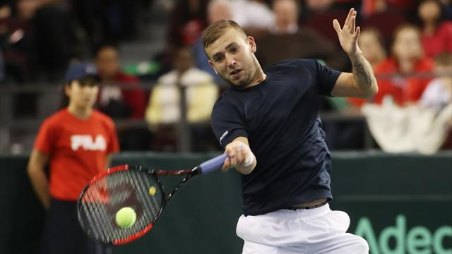 Evans sets up second-round clash with Monfils with win in Dubai