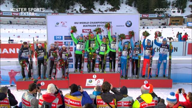 Winter Extra: Germany win mixed relay, Russian unhappy with Fourcade