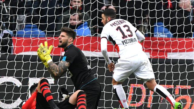 Nice fight back to draw at Rennes but title ambitions fade