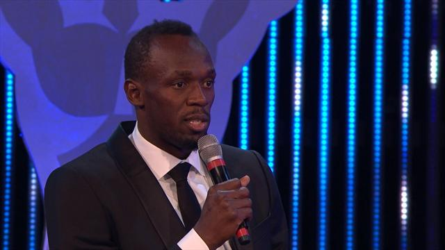Bolt collects Laureus award, as Biles wins women's prize