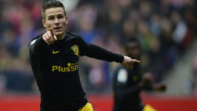 Substitute Gameiro scores 3 for Atletico in 6 minutes