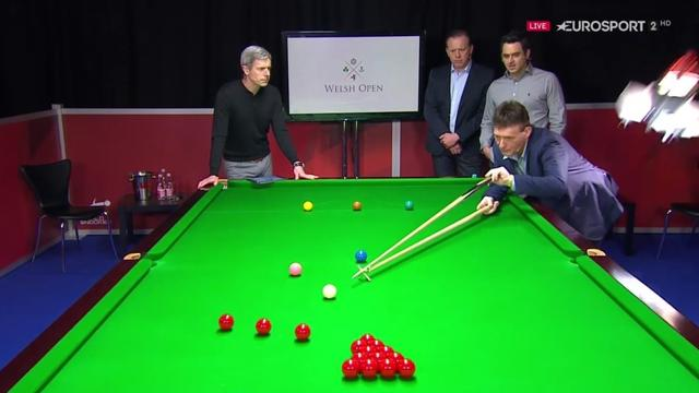 Jimmy White narrowly evades falling studio light