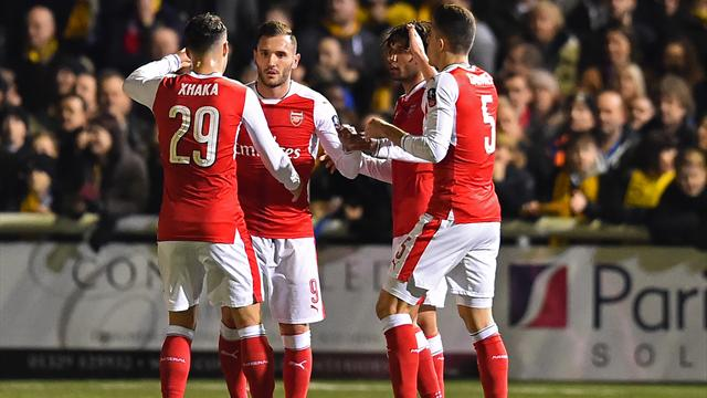 Arsenal met un point final à la belle aventure de Sutton