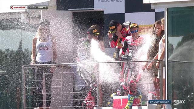 Race 2 Highlights: Watch Rea race through field to take win