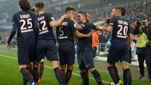 PSG hammer Marseille to go back to second