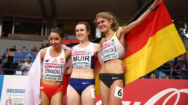 Muir produces record-breaking 1500m golden run, Kilty defends sprint title