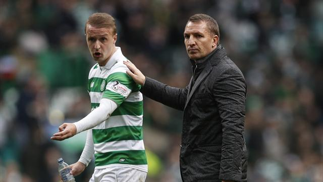 Celtic striker Leigh Griffiths: Ref wrong to ignore penalty claim