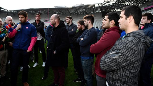 Stade Francais players on strike over Racing 92 merger