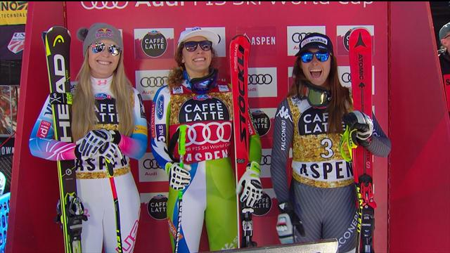 Stuhec beats Goggia to downhill crystal globe