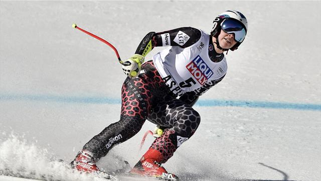 Shiffrin, 2nd in slalom, celebrates overall title