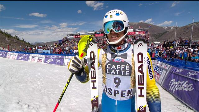 Andre Myhrer's victorious 2nd run in Aspen