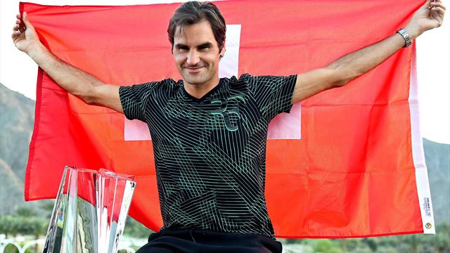 Federer beats Wawrinka to win at Indian Wells