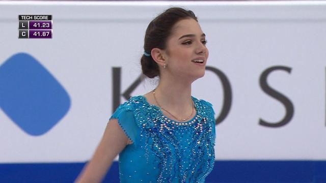 Evgenia Medvedeva wows in short program to continue dominance