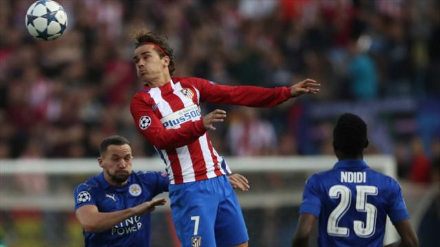 Antoine Griezmann gives Atletico narrow lead in Champions League tie