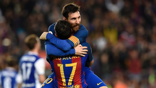 Messi double helps Barca edge to win over Real Sociedad
