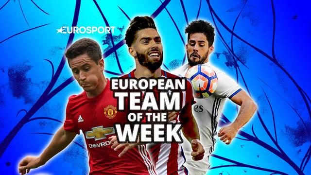 European Team of the Week: Isco stars, Manchester United midfielder makes debut