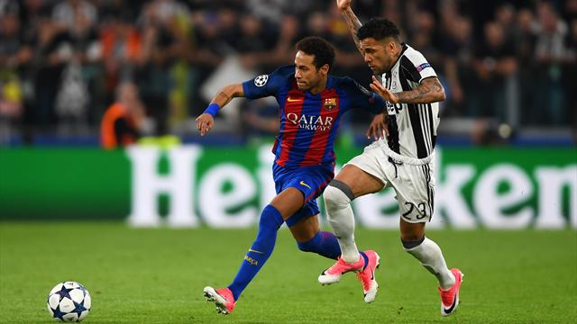 Dani Alves hugs crying Neymar after Barcelona's Champions League exit