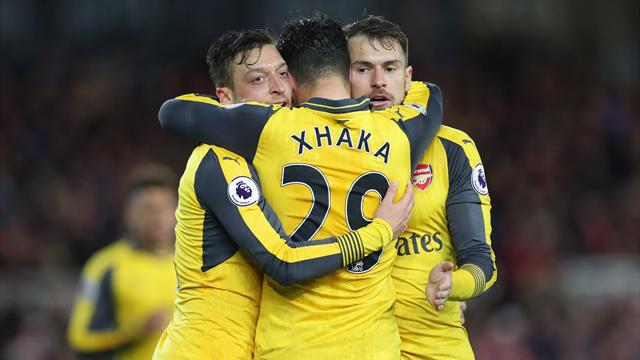 Arsenal secure vital win in race for Champions League