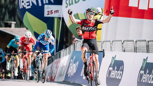 Dennis wins shortened stage 2 at Tour of the Alps