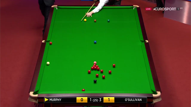 Shaun Murphy pots outrageous trick shot off three cushions