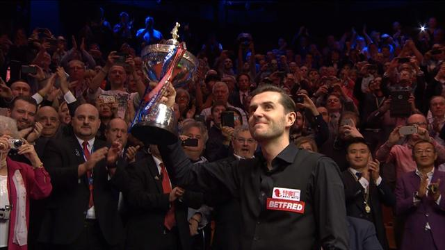 'He can join the all-time greats' - Selby is presented with the trophy