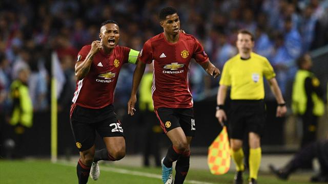 Rashford free-kick hands Man Utd advantage over Celta Vigo