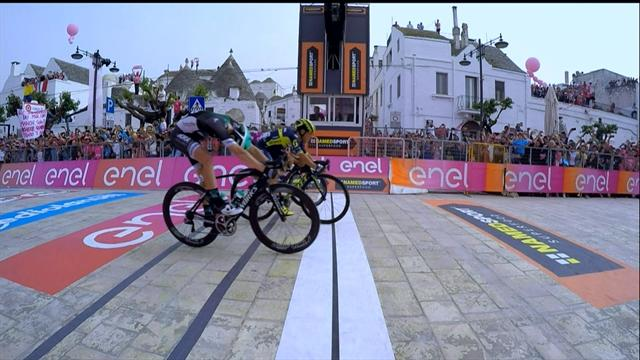 Ewan takes Stage 7 in amazing photo finish