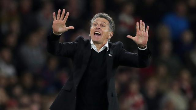 Manchester United keep the pressure on Southampton boss Claude Puel
