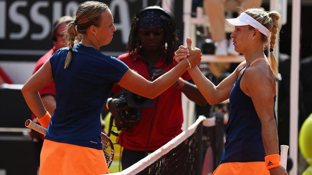 Angelique Kerber loses to Anett Kontaveit at Italian Open
