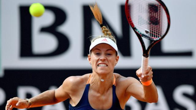 Angelique Kerber crashes out of Internazionali BNL d'Italia second round