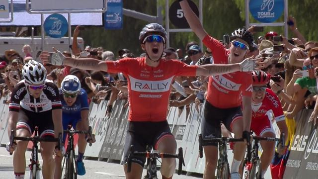 Huffman hangs on for victory in Stage 4